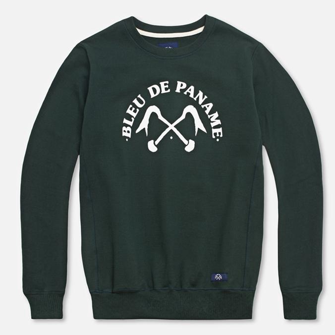 Мужская толстовка Bleu De Paname Uni Logo Vert Sapin