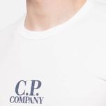 C.P. Company Basic Logo Crew White photo- 4