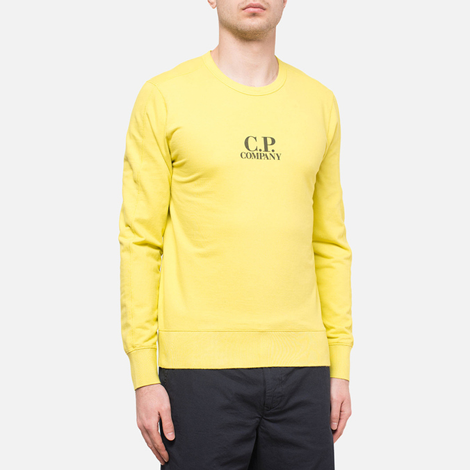 C.P. Company Basic Logo Crew Yellow