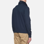 C.P. Company Concealed Half Button Hoody Navy photo- 2