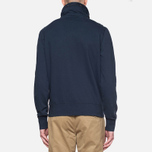 C.P. Company Concealed Half Button Hoody Navy photo- 3
