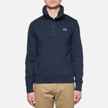 C.P. Company Concealed Half Button Hoody Navy photo- 6