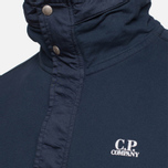 C.P. Company Concealed Half Button Hoody Navy photo- 4
