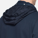 C.P. Company Concealed Half Button Hoody Navy photo- 5