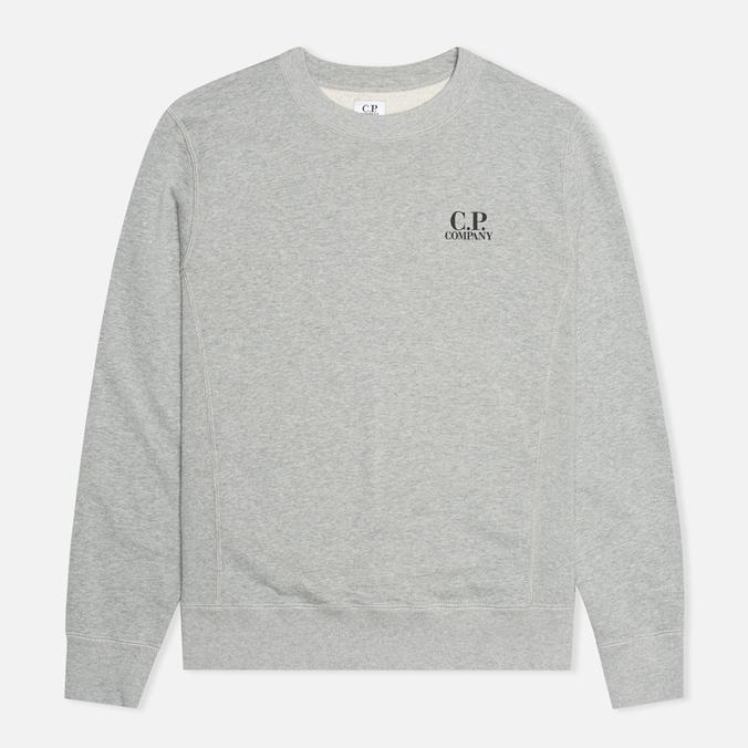 C.P. Company Crew Neck Goggle Print Men`s  Sweatshirt Grey