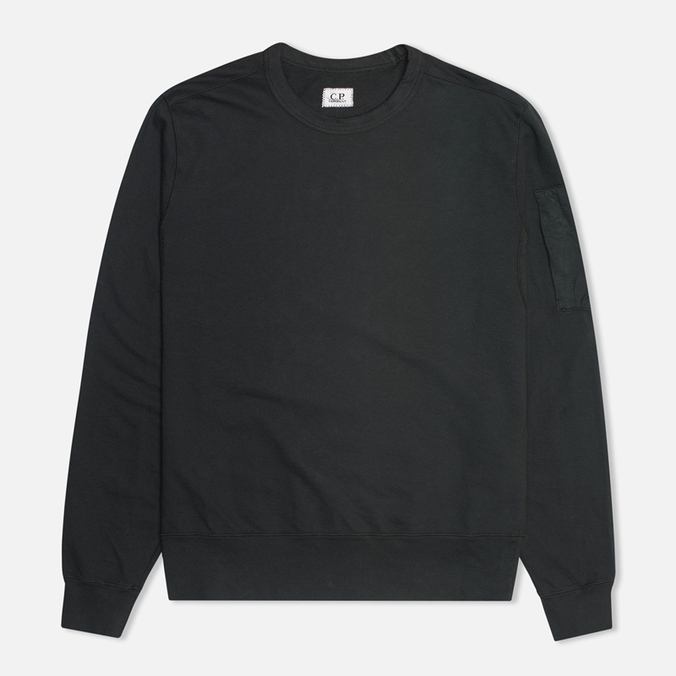 Мужская толстовка C.P. Company Fleece Crew Neck Arm Lens Black