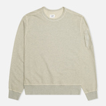 Мужская толстовка C.P. Company Fleece Crew Neck Arm Lens Grey фото- 0