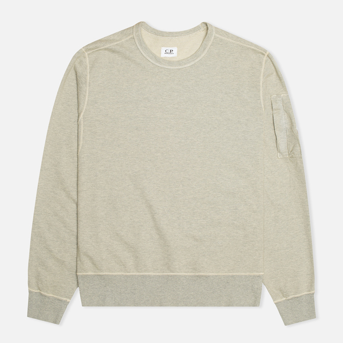 Мужская толстовка C.P. Company Fleece Crew Neck Arm Lens Grey