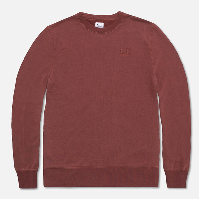 Мужская толстовка C.P. Company Fleece Crewneck Burgundy