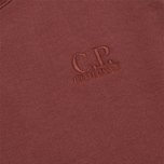 Мужская толстовка C.P. Company Fleece Crewneck Burgundy фото- 3
