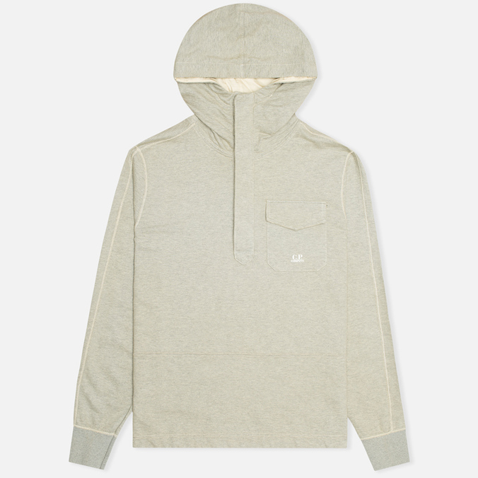 Мужская толстовка C.P. Company Garment Dyed Light Fleece Grey
