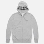 Мужская толстовка C.P. Company Goggle Print Hood Grey фото- 0