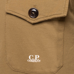 C.P. Company Half Button Sweat Brown photo- 5