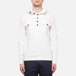 C.P. Company Half Button Sweat Neutral photo- 6