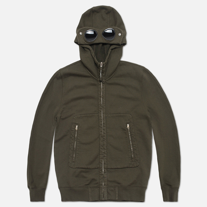 Мужская толстовка C.P. Company Mako Fleece Goggle Hood Olive