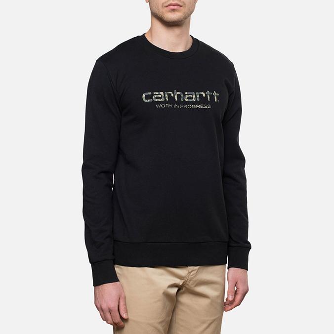 Carhartt WIP Camo Stain Script Black/Camo Stain Green