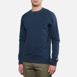 Carhartt WIP Chase Sweat Blue Penny photo- 0