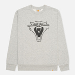 Мужская толстовка Carhartt WIP Cats Grey Heather/Black фото- 0