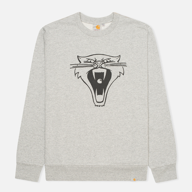Мужская толстовка Carhartt WIP Cats Grey Heather/Black