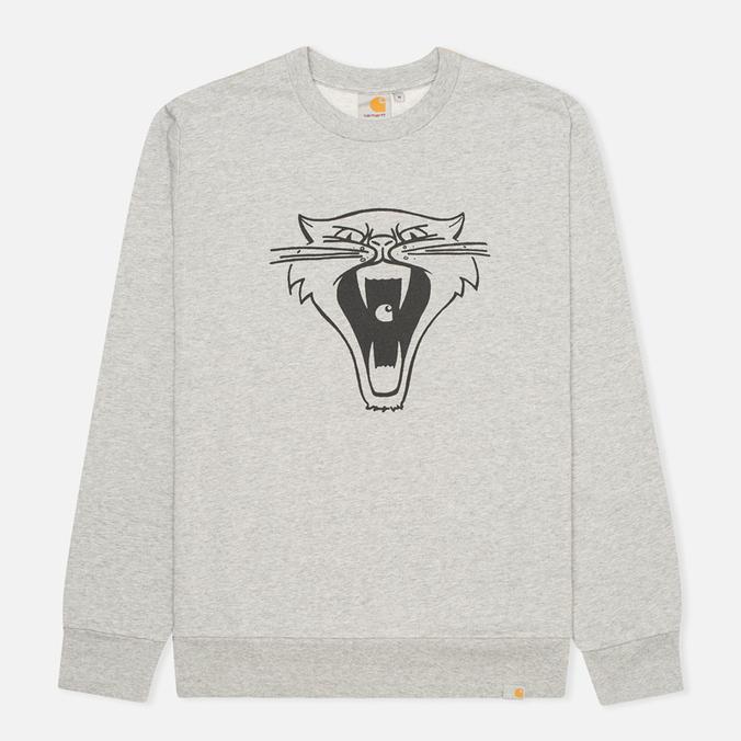 Carhartt WIP Cats Men`s Sweatshirt Grey Heather/Black
