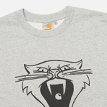 Мужская толстовка Carhartt WIP Cats Grey Heather/Black фото- 1