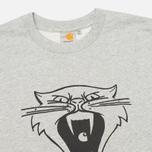 Carhartt WIP Cats Men`s Sweatshirt Grey Heather/Black photo- 1