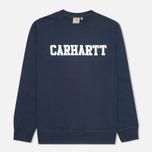 Мужская толстовка Carhartt WIP College Duke Blue/White фото- 0
