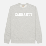Мужская толстовка Carhartt WIP College Grey Heather/White фото- 0