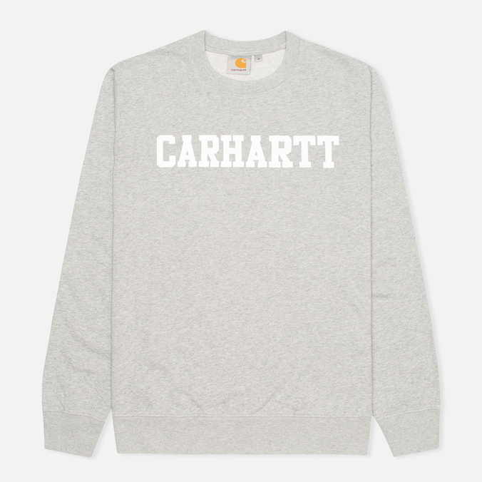 Мужская толстовка Carhartt WIP College Grey Heather/White