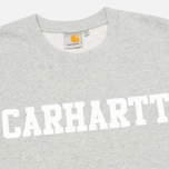 Мужская толстовка Carhartt WIP College Grey Heather/White фото- 1