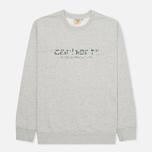 Мужская толстовка Carhartt WIP Stain Script Grey Heather/Camo Stain Leaf фото- 0