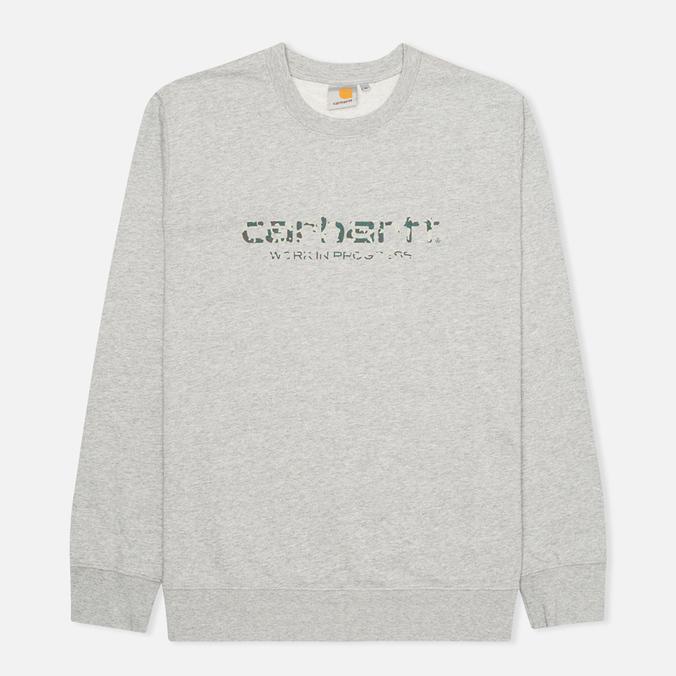 Мужская толстовка Carhartt WIP Stain Script Grey Heather/Camo Stain Leaf