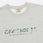 Мужская толстовка Carhartt WIP Stain Script Grey Heather/Camo Stain Leaf фото- 1