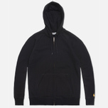 Мужская толстовка Carhartt WIP Zip Hooded Chase Black фото- 0