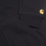 Мужская толстовка Carhartt WIP Zip Hooded Chase Black фото- 4