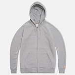 Carhartt WIP Zip Hoody Chase Grey Heather photo- 0