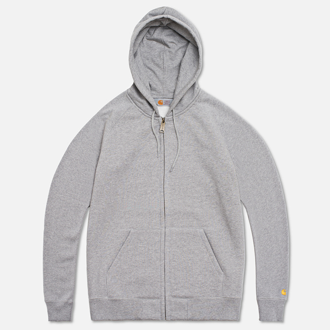 Carhartt WIP Zip Hoody Chase Grey Heather
