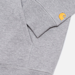 Carhartt WIP Zip Hoody Chase Grey Heather photo- 3