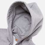 Carhartt WIP Zip Hoody Chase Grey Heather photo- 1