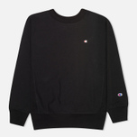 Champion Reverse Weave Basic Crew Neck Men`s Sweatshirt Black photo- 0