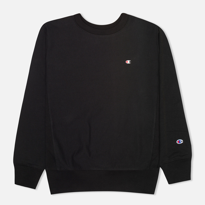 Champion Reverse Weave Basic Crew Neck Men`s Sweatshirt Black