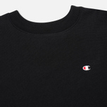 Champion Reverse Weave Basic Crew Neck Men`s Sweatshirt Black photo- 1