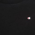 Champion Reverse Weave Basic Crew Neck Men`s Sweatshirt Black photo- 2