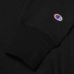 Champion Reverse Weave Basic Crew Neck Men`s Sweatshirt Black photo- 3