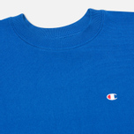 Champion Reverse Weave Basic Crew Neck Men`s Sweatshirt Blue photo- 1