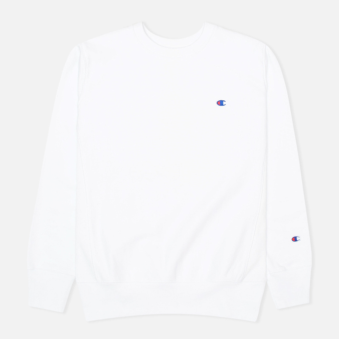 Мужская толстовка Champion Reverse Weave Basic Crew Neck White