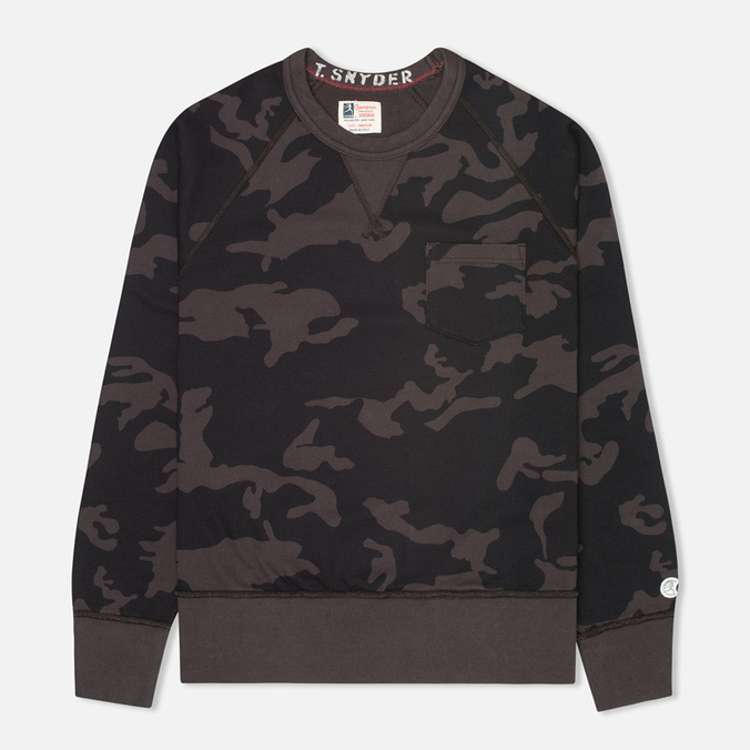 Мужская толстовка Champion x Todd Snyder Classic Crew Pocket Black/Camo