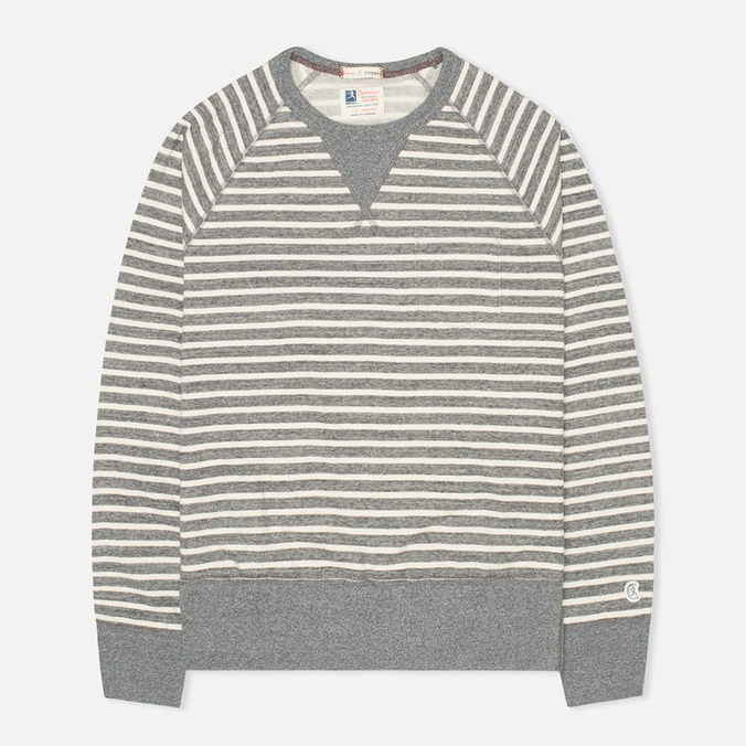 Мужская толстовка Champion x Todd Snyder Classic Crew Pocket Stripe Grey Heather