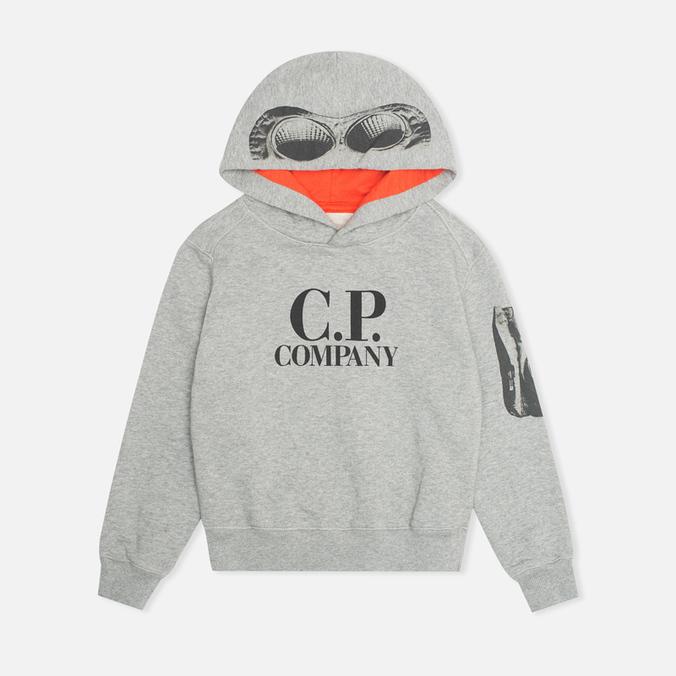 Детская толстовка C.P. Company U16 Goggle Print Arm Lens Grey