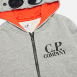 C.P. Company U16 Zip Hooded Goggle Children's Sweatshirt Grey photo- 1